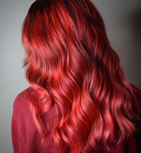 Valentine Bright Red Hair Color Lime