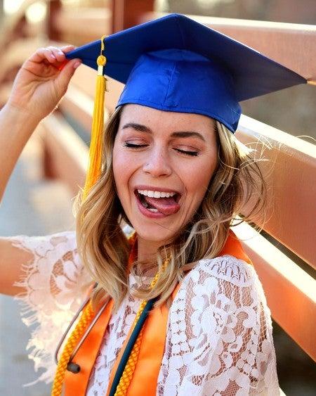 """12 girl graduation picks white 3/"""" long"""
