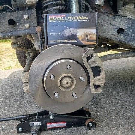 Ceramic Brake Pads Power Stop CRK8176,Z17 Rear Coated Rotor Kit-Coated Brake Rotors