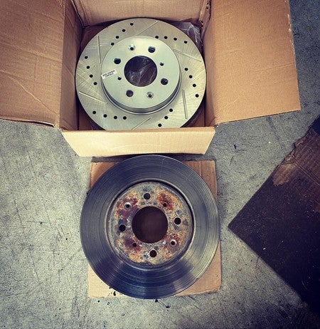 Power Stop JBR1748XPR Drilled and Slotted Front Brake Rotor Pair