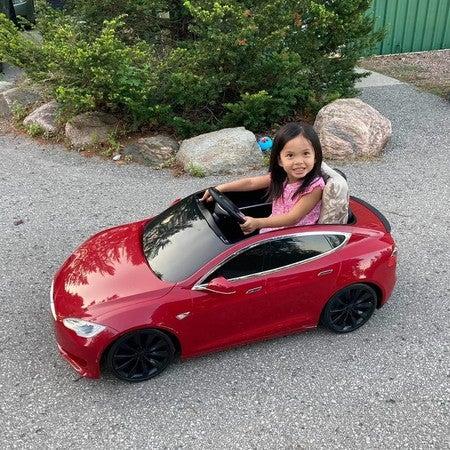 Tesla For Kids Model S Battery Powered Ride On Car Radio Flyer