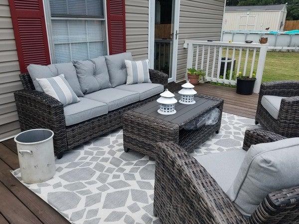 Cloverbrooke 4 Piece Outdoor Conversation Set Ashley Furniture Homestore